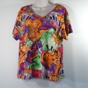 Colorful Kaktus embellished T-shirt XL